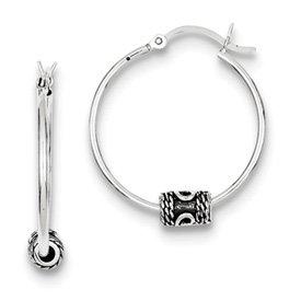 Genuine IceCarats Designer Jewelry Gift Sterling Silver Hoop Earrings