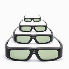 4 Pack of SainSonic Zodiac 904 Series 144Hz Rechargeable 3D DLP-Link Projector Active Shutter Glasses, Black
