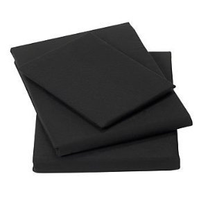 Matching Bedrooms Twin Pack Percale Housewife Pillowcases Black