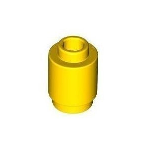 Lego Building Accessories 1 x 1 Yellow Round Brick, Bulk - 100 Pieces per Package