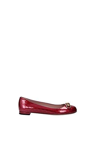 Ballerine Gucci Donna Vernice Raspberry Candy 326712BQY006236 Rosso 36EU