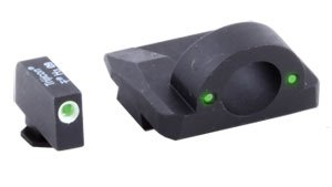 Ameriglo Green Front/Rear Ghost Ring Night Sights For Glock 9MM/40 Caliber Md: GL125 .