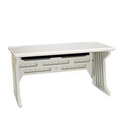 -- Aspira Modular Desk, Resin, 60w x 28d x 30h, Platinum