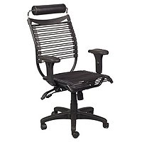 BALT Seatflex Series Swivel/Tilt Chair with Headrest and Arms, Black