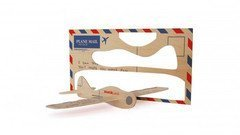 Balsa Wood Postcard Aeroplane - Flying Glider in Mail