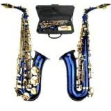 Merano GWD510BL E Flat Alto Saxophone with Zippered Hard Case and Mouth Piece, Blue