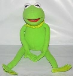 Disney Muppets 3-d Kermit the Frog Plush Doll New Tags