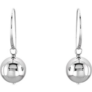Elegant and Stylish pair of 17 MM Drop Hoop Earrings in Stainless Steel, 100% Satisfaction Guaranteed.