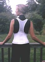 Cincher Women's Posture Back Brace Support Belt – White – Small 30-34 Inch Hip