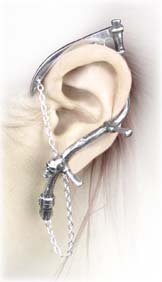 The Harvester (stud) - Alchemy Gothic Pewter Earring