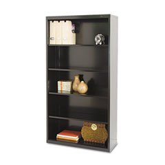 * Metal Bookcase, 5 Shelves, 34-1/2w x 13-1/2d x 66h, Black