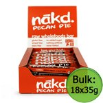 Nakd Pecan Pie Premium Raw Fruit and Nut Bar 35g x18