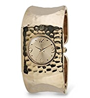 M&S Collection Hammered Round Face Bangle Watch