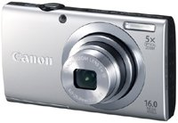 21zh88YzQeL Canon PowerShot A2400 IS 16.0 MP Digital Camera with 5x Optical Image Stabilized Zoom 28mm Wide Angle Lens with 720p Full HD Video Recording and 3.2 Inch Touch Panel LCD (Silver)