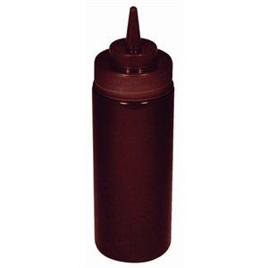 Brown Squeeze Sauce Bottle Brown. Kapazität: 12 Unzen Weich und flexibel Polyethylen.