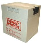 Power Wheels battery, 12 volt GRAY.
