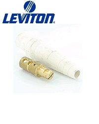 Leviton 16D40 Single Pole Cam Type Plug Detachable Male Double Set Screw 16 Series Taper Nose 1/0-4/0 Awg 400 Amp - White (Pkg Of 3)