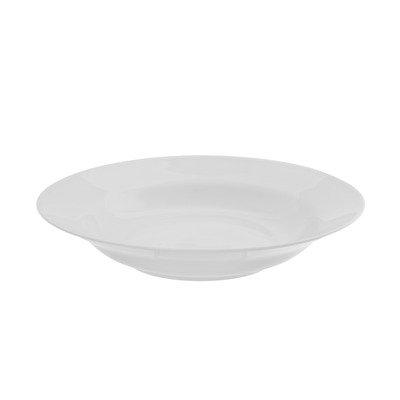 """Royal White 9"""" Rim Soup Bowl [Set of 6]"""