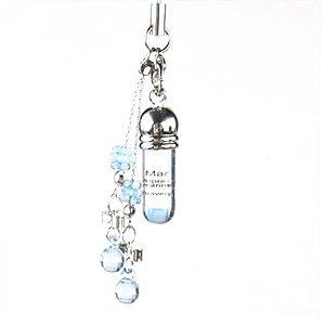 Gem Art (Gemalto) ampoule birth stone mobile strap March aquamarine.