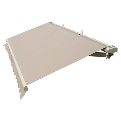 GudCraft Retractable 10' X 6.5' Patio Awning 10ft x 6.5ft (3m x 2m) Solid Beige Color