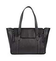 Autograph Leather Wing Flapover Tote Bag
