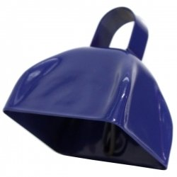 Blue Metal Cowbell - 12 Pack