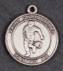Boys. St. Chrisopher Sterling Silver Tennis Necklace