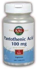 Pan Acid (Pantothenic Acid) 100mg Kal 100 Tabs
