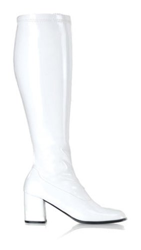 Pleaser Shoes Women'S Gogo Adult Boots - Wide Width 9W White front-35584