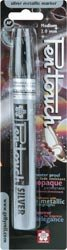 Bulk Buy: Sakura Pen Touch Metallic Marker Medium Point 2mm Silver Ink 41582 (3-Pack)