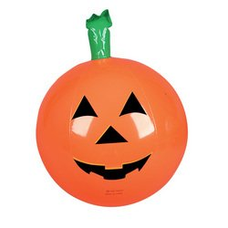 One Halloween Inflatable Pumpkin Jack O Lantern Beach Ball - 16""