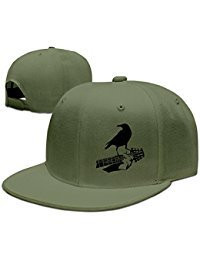Custom Unisex Adjustable Cool Crow On The Guitar Snapback Flat Baseball Hat One Size
