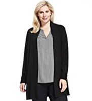 Plus Cashmilon™ Open Front 2 Pockets Cardigan
