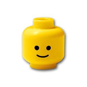 レゴブロックパーツ ミニフィグ ヘッド - 笑顔:[Yellow / イエロー]【並行輸入品】