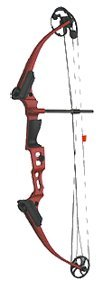Genesis Mini Bow Kit, Left Handed, Red