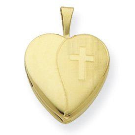 Genuine IceCarats Designer Jewelry Gift Gold Plated Sterling Silver 16Mm Textured Cross Locket
