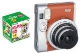 インスタントカメラ チェキ instax mini90 チェキ ネオクラシック ブラウン&フイルム50枚セット
