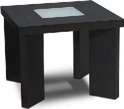 Cheap Avenue Six Intersection Wenge End Table with Frosted Glass – Closeout (B0017LQ0VY)
