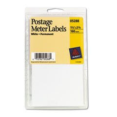 ** Permanent Adhesive Postage Meter Labels, 1-1/2 x 2-3/4, White, 160/Pack **