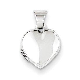 Genuine IceCarats Designer Jewelry Gift Sterling Silver Plain 10Mm Heart Locket