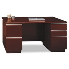 "* 60""W Double Pedestal Desk (F/F,B/B/F) Box 2 of 2 Milano 2 Harvest Cher"