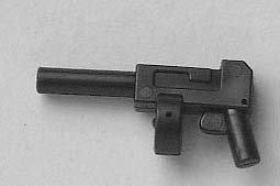 Lego Minifigure Weapon: Black Tommy Gun / Machine Gun (Lego Minifigure Guns compare prices)