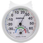 Fine & Clear Dial Thermo-hygrometer with Adjustable Port