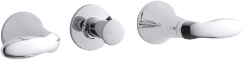 Kohler K-T15235-4-Cp Coralais Three-Handle Bath And Shower Valve Trim With Lever Handles, Valve Not Included, Polished Chrome front-601067