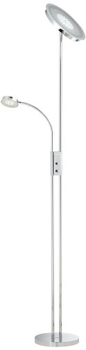 Dexter Led Torchiere Floor Lamp With Reading Light