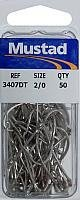 Mustad Hooks O'Shaughnessy SW Tinned size 2/0 50per bx #3407DT-2/0 pc22