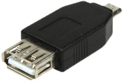 LogiLink AU0029 USB Adapter, USB 2.0, Micro B male zu USB A female