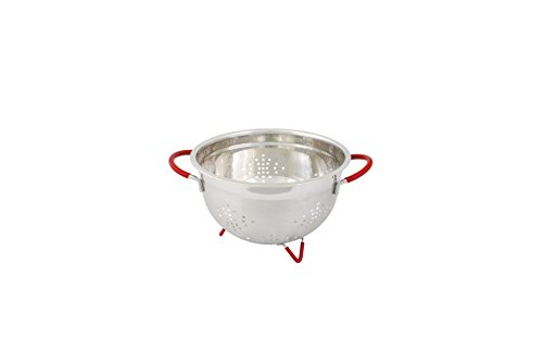 Cook Pro 257 Professional Colander with Red Handles and Feet, 3-Quart