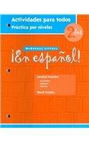 ?En espa?ol!: Actividades para todos (Workbook)with Lesson Review Bookmarks Level 2 (Spanish Edition)