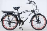 GREENLINE 26″ Electric Beach Cruiser Electric Bicycle Bike – Men's Black